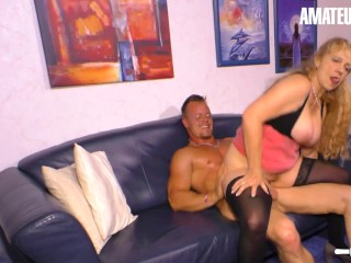 HausfrauFicken - Mature German Granny Seduced Young Neighbour For Kinky Sex