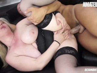 ScambistiMaturi - Desirè Bellavita Big Tits Italian Mature Gets Her Fat Ass Filled With Cock