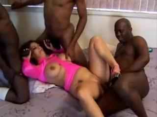 Slut Shelby mature interracial creampie gangbang